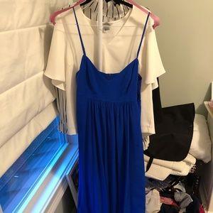 Amanda Uprichard Silk Gown Maxi Dress